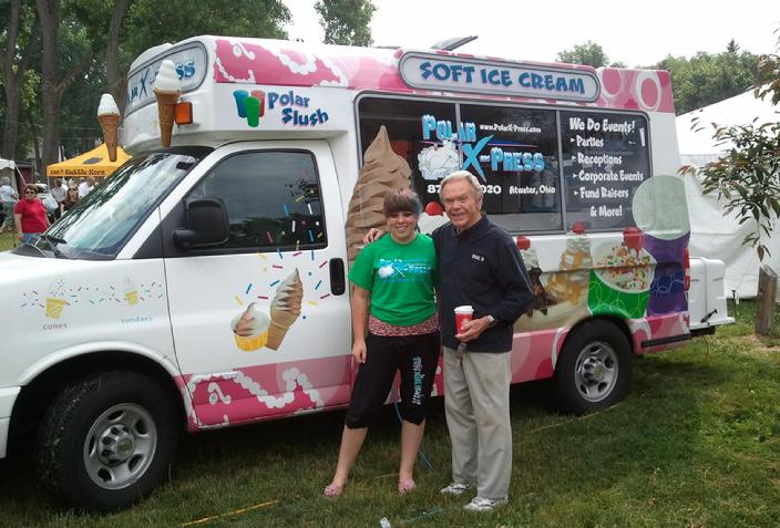 Ice cream truck for commercial work. cleveland ice cream social, cleveland ice cream party, cleveland ice cream vendor, cleveland ice cream catering.